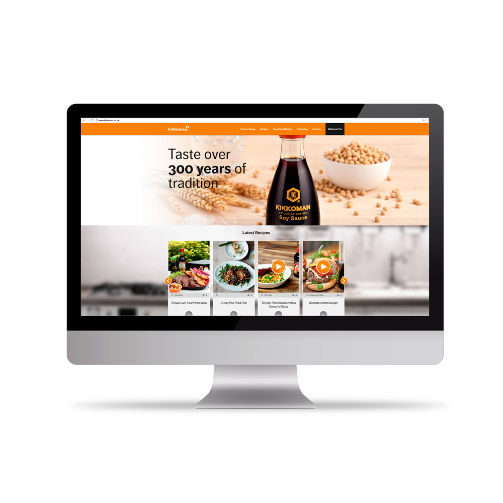 website design agency uk- Kikkoman