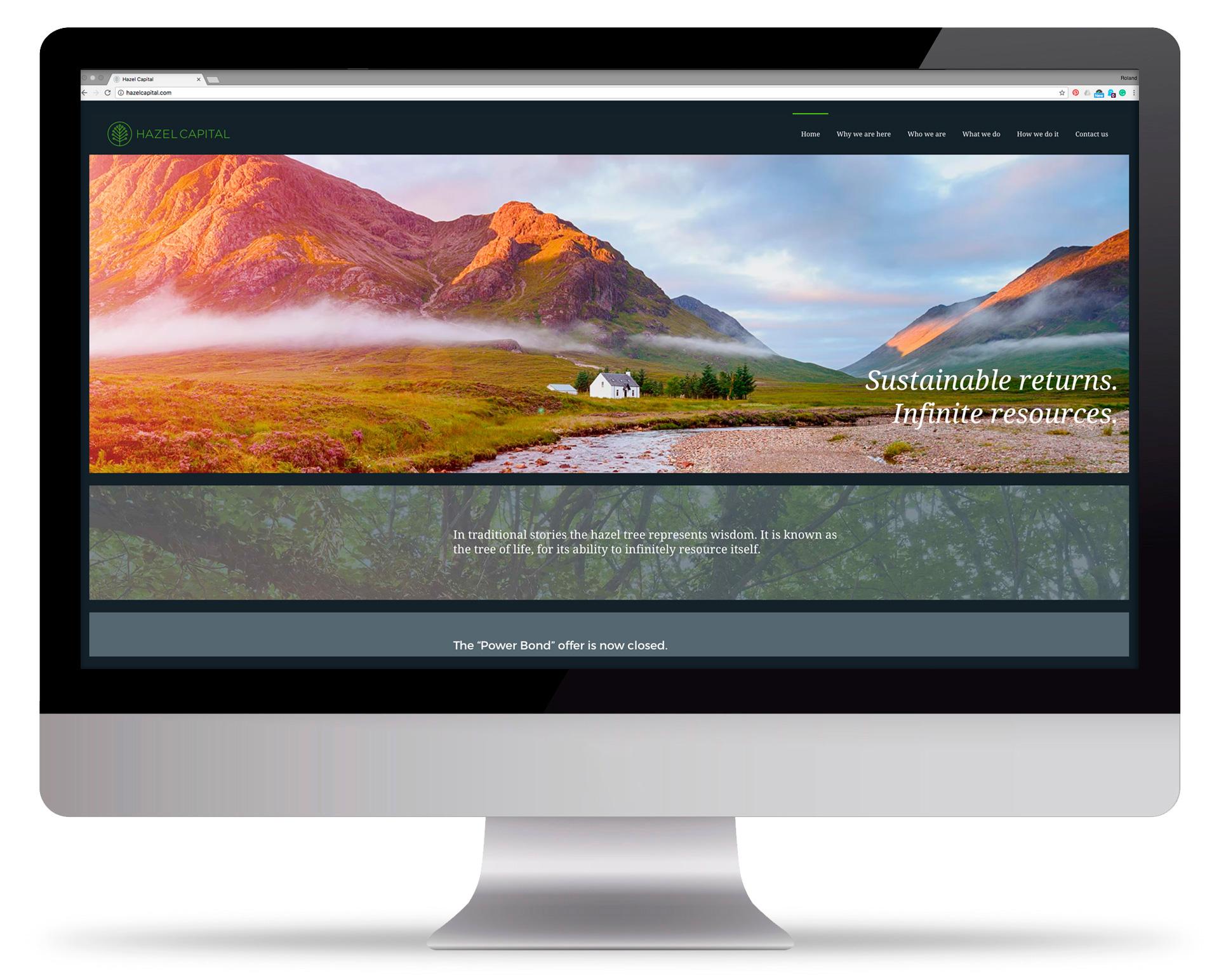 New Hazel Capital website