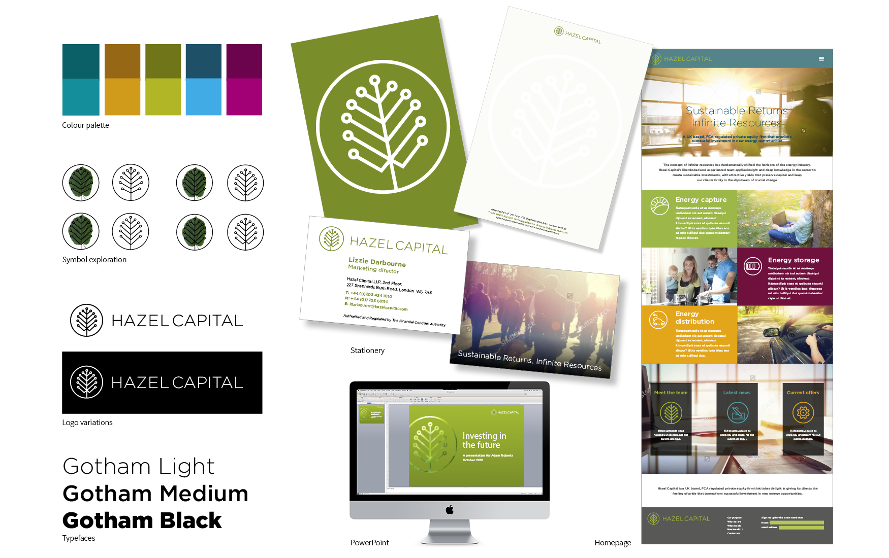 Hazel Capital visual identity exploration 1