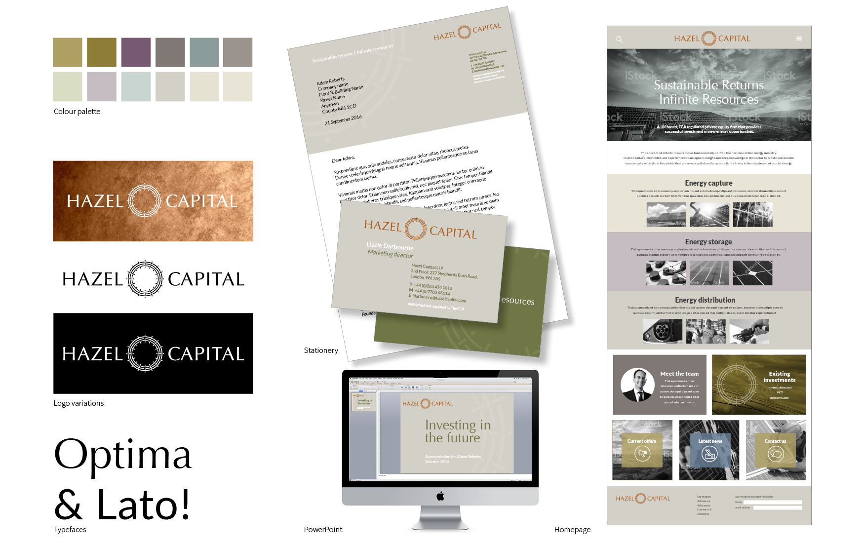 Hazel Capital visual identity exploration 3