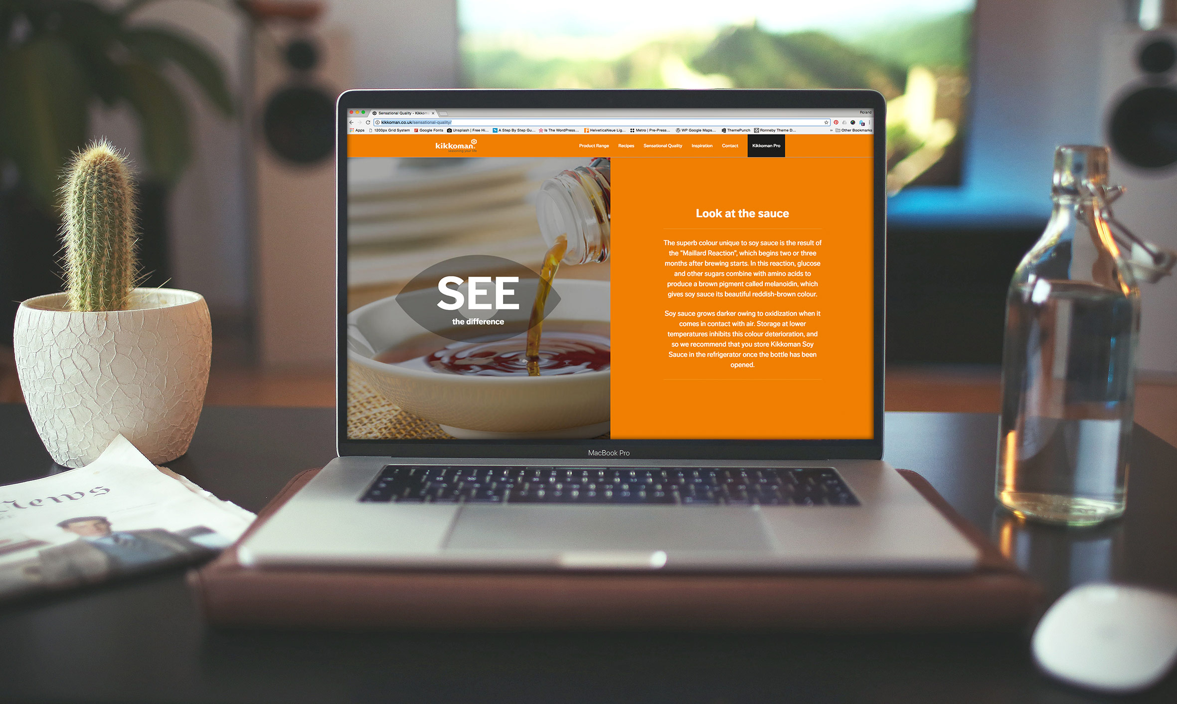 website design agency uk - Incorporate Design - Kikkoman website