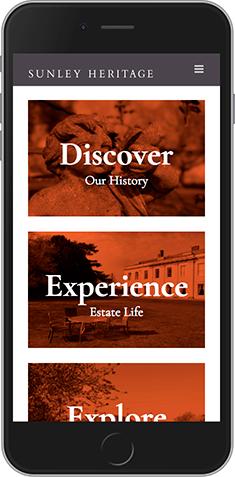 Sunley Heritage mobile responsive website
